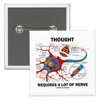 El pensamiento requiere mucho nervio (la sinapsis) pin cuadrado