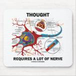 El pensamiento requiere mucho nervio (la sinapsis) tapetes de ratón