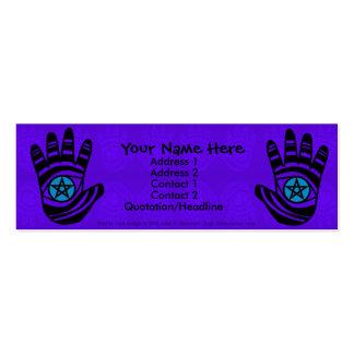 El pentáculo da la tarjeta de 2 perfiles tarjetas personales