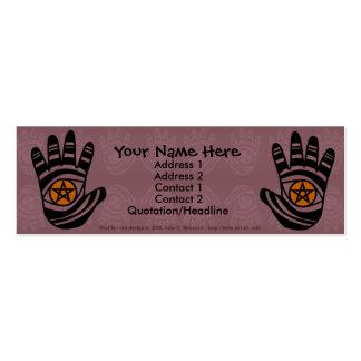 El pentáculo da la tarjeta del perfil tarjetas de visita