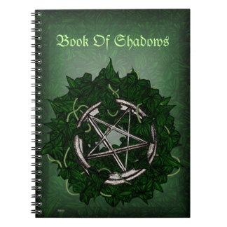 El pentáculo y la hiedra spiral notebook