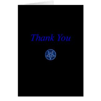 """El Pentagram inverso """"le agradece"""" cardar Tarjeta De Felicitación"""