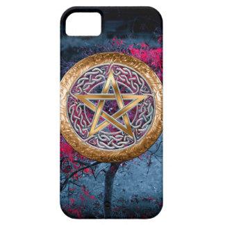 El Pentagram pagano de Wiccan altera el paño iPhone 5 Carcasas