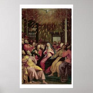 El Pentecost, c.1598 (aceite en el panel) Póster
