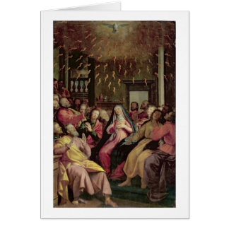 El Pentecost, c.1598 (aceite en el panel) Tarjeton