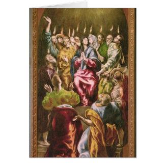 El Pentecost, c.1604-14 Tarjeta