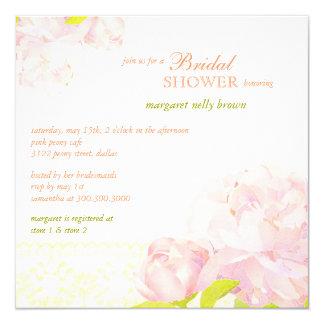 El Peony meridional florece la primavera que la Invitación 13,3 Cm X 13,3cm