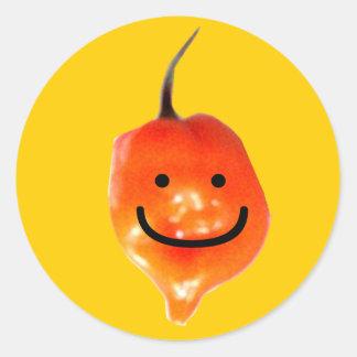 El Pepperman Pegatina Redonda