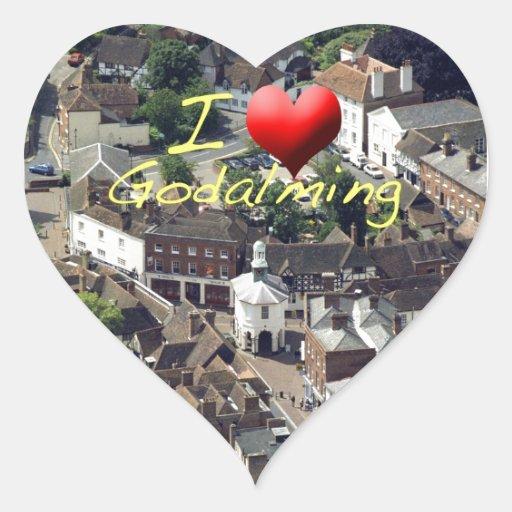 El Pepperpot Godalming Surrey Pegatina En Forma De Corazón