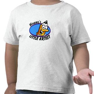 El pequeño artista de la mamá camiseta