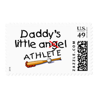 El pequeño atleta del papá sello