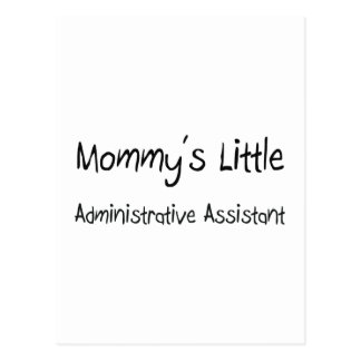 El pequeño ayudante administrativo de la mamá tarjetas postales