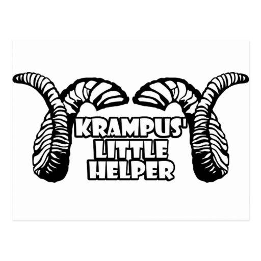 El pequeño ayudante de Krampus Tarjeta Postal