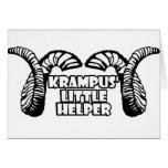 El pequeño ayudante de Krampus Tarjeton