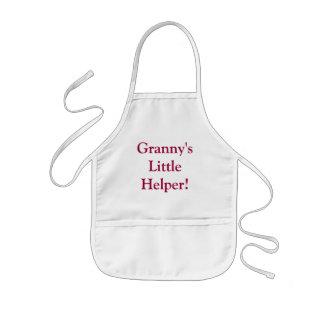 ¡El pequeño ayudante de la abuelita! embroma el Delantal Infantil