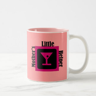 El pequeño ayudante de la madre taza de dos tonos