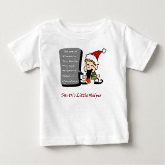 El pequeño ayudante de Santa Playera De Bebé