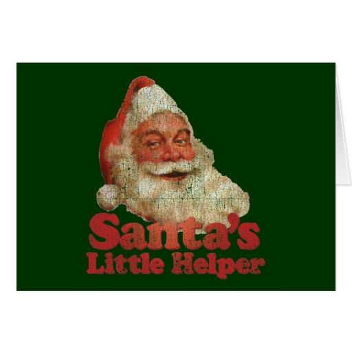 El pequeño ayudante de Santa Tarjeta De Felicitación