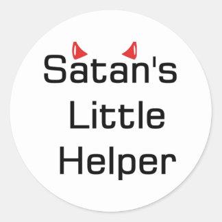 El pequeño ayudante de Satan Pegatina Redonda