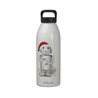 El pequeño ayudante Robo-x9 de Santa Botella De Agua