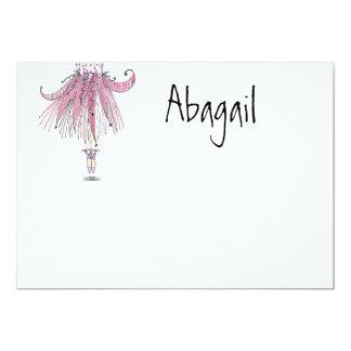 El pequeño bailarín número uno le agradece invitación 12,7 x 17,8 cm