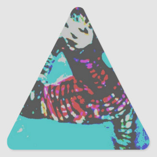 El pequeño bailarín pegatina triangular