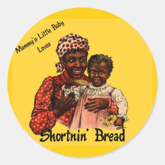 El pequeño bebé de la mami ama el pan de Shortnin Pegatina Redonda