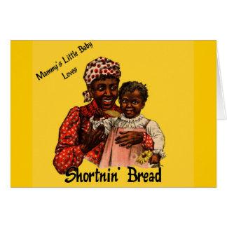 El pequeño bebé de la mami ama el pan de Shortnin Tarjeta De Felicitación