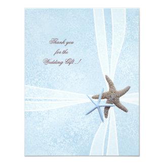 """El pequeño boda de las estrellas de mar le invitación 4.25"""" x 5.5"""""""