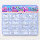 El pequeño calendario Mousepad de la ciudad 2011 Tapetes De Ratón