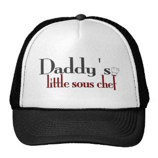 El pequeño cocinero sous del papá gorros