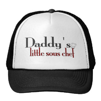 El pequeño cocinero sous del papá gorro