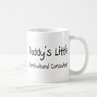 El pequeño consultor hortícola del papá taza