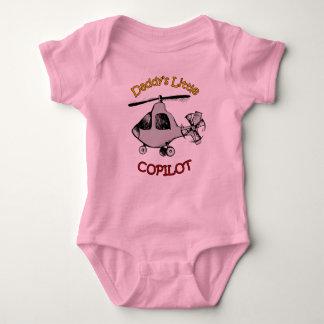 El pequeño copiloto del papá (helicóptero) body para bebé