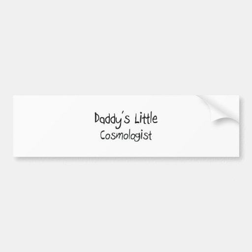 El pequeño cosmólogo del papá etiqueta de parachoque