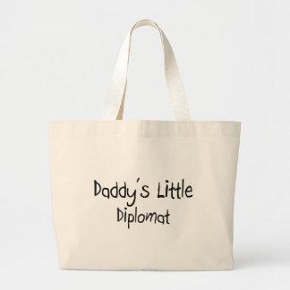 El pequeño diplomático del papá bolsa tela grande
