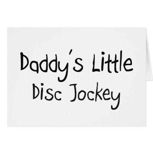 El pequeño disc jockey del papá tarjetas