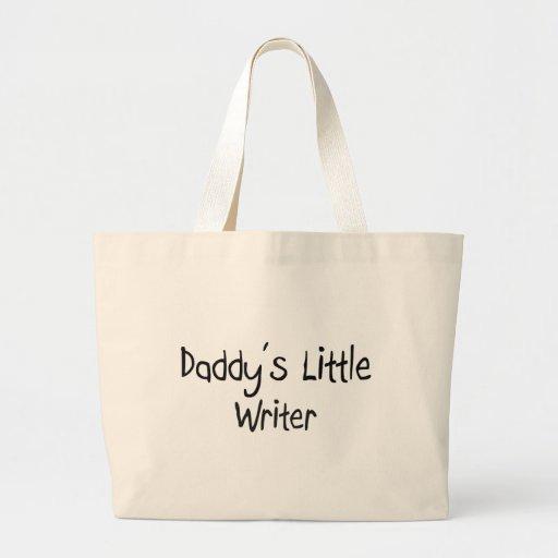 El pequeño escritor del papá bolsa