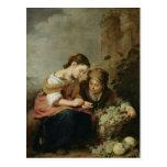 El pequeño Fruta-Vendedor, 1670-75 Postal