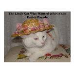 El pequeño gato que quiso estar en la Pascua Para Postal