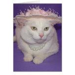 El pequeño gato que quiso ir a la iglesia Pascua Tarjeta