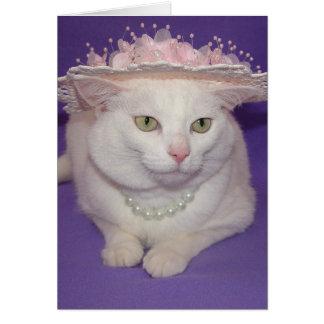 El pequeño gato que quiso ir a la iglesia Pascua Tarjeta De Felicitación