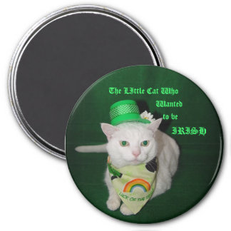 El pequeño gato que quiso ser irlandés imán redondo 7 cm