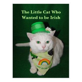 El pequeño gato que quiso ser irlandés postal