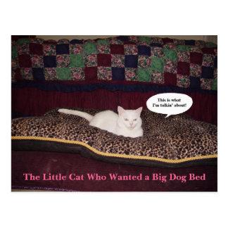 El pequeño gato que quiso una cama grande del postal