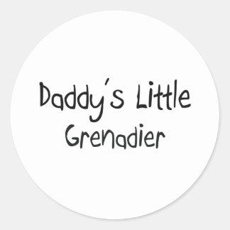 El pequeño granadero del papá pegatina redonda