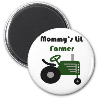 El pequeño granjero de la mamá imán redondo 5 cm