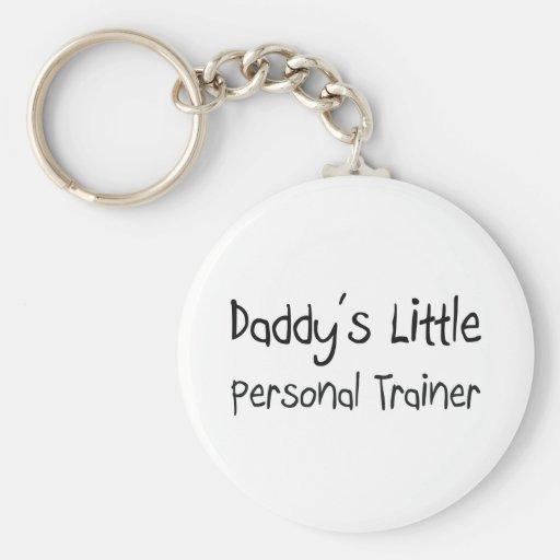 El pequeño instructor personal del papá llaveros personalizados