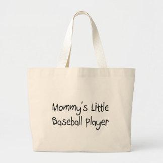 El pequeño jugador de béisbol de la mamá bolsa tela grande