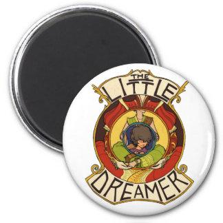 El pequeño logotipo del funcionario del soñador imán redondo 5 cm